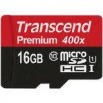Transcend TS16GUSDCU1 microSDXC/SDHC Class 10 UHS-I 400x (Premium)…