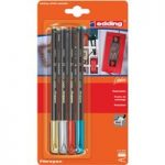 Edding 4-1200-4-1999 Felt Tips e-1200 Metallic Assorted