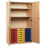 Monarch 21 Tray Storage Cupboard with Lockable doors