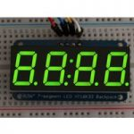 Adafruit 880 0.56″ 4-Digit 7-Segment Display with I2C Backpack Green