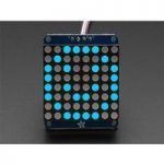 Adafruit 1052 Small 1.2″ 8×8 Round LED Matrix with I2C Backpack Blue