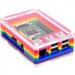 Pimoroni PIM147 Pibow 3 Rainbow Case for Raspberry Pi (Pi 3, 2, & B+)