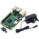 Raspberry Pi 3 BareBones Kit – Pi 3, 5.1V 2.5A PSU & 8GB SD