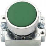 Europa Components RCAS-PBF3 Flush Button Switch Green