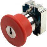 Techna PtecMetMushK40 Emergency Stop Button (Key to Release)