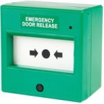 Comus CP55SG Resettable Green Emergency Door Release Point with LED