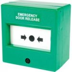 Comus CP74SG Like Glass Insert Green Emergency Door Release Point
