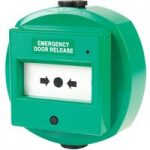 Comus CP78DWG Resettable Green Waterproof Door Release Point with LED