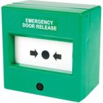 Comus CP84SG Like Glass Insert Green Emergency Door Release Point