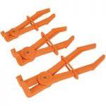 Sealey VS0400 Hose Pinch Tool Set 3pc 90° Composite