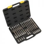 Siegen S01076 TRX-Star* Socket Bit Set 32pc 1/2″Sq Drive