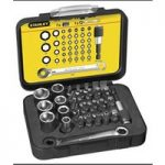 Stanley 1-13-907 Bit & Socket Set Of 39 + Ratchet End Metric 1/4 Drive