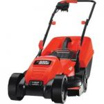 Black+Decker EMAX32S Electric Rotary Lawnmower 32cm 1200W