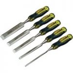 Stanley 2-16-269 FatMax Bevel Edge Chisel With Thru Tang Set Of 5