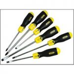 Stanley 5-98-001 Cushion Grip Screwdriver Set of 6