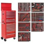 Sealey TBTPCOMBO1 Tool Chest Combi 14 Drawer – BB Runners – Red & …