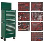 Sealey TBTPCOMBO3 Tool Chest Combi 14 Drawer – BB Runners – Grn & …