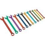 Siegen S01074 Combination Spanner Set 12pc Multi-Coloured Metric