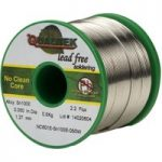 Qualitek Solder Wire Sn100e NC601 Rosin Free No Clean Flux 2.2% 1….
