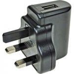 PowerPax UK SW4492-V4 5V DC 1A USB Power Supply UK Pins Black Case