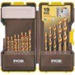Ryobi 5132002258 RAK19HSS HSS Drill Bit Set of 19