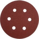 Milwaukee 4932 3715 92 Sanding Discs 6 Hole 150mm 80 Grit (Pack of 5)