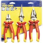 Irwin 10505519 Vise-Grip VDE Combination Pliers Set of 3