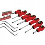 Rolson 28878 30pc Screwdriver & Bit Set