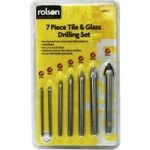 Rolson 48902 7pc Glass & Tile Drill Bit Set