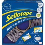 Sellotape 1445181 Sticky Loop Spots 22mm – White – Pack Of 125