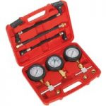 Sealey MS100 Motorcycle Compression & Fuel Pressure Gauge Set 3pc