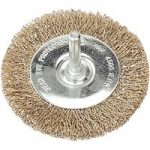 Sealey SFB75 Flat Wire Brush 75mm with 6mm Shaft