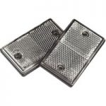 Sealey TB23 Reflex Reflector Clear Oblong Pack of 2