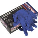 Sealey SSP55L Premium Powder Free Disposable Nitrile Gloves Large …