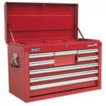 Sealey AP33089 Topchest 8 Drawer with Ball Bearing Runners – Red
