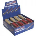 Sealey WB05DB24 Wire Brush Brassed Steel Plastic Handle Display Bo…