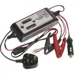 Sealey SMC03 Compact Auto Digital Battery Charger – 9-Cycle 6/12V