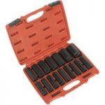Sealey AK5816M Impact Socket Set 16pc 1/2″sq Drive Deep Metric