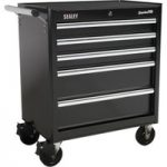 Sealey AP33459B Rollcab 5 Drawer with Ball Bearing Runners – Black