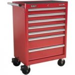 Sealey AP33479 Rollcab 7 Drawer with Ball Bearing Runners – Red