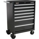 Sealey AP33479B Rollcab 7 Drawer with Ball Bearing Runners – Black
