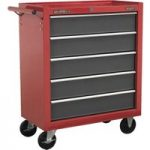 Sealey AP22505BB Rollcab 5 Drawer with Ball Bearing Runners – Red/Grey
