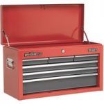 Sealey AP2201BB Topchest 6 Drawer with Ball Bearing Runners – Red/Grey