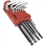 Sealey AK7168 Ball-End Hex Key Set 10pc Long Fully Polished Metric