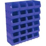 Sealey TPS324B Plastic Storage Bin 148 x 240 x 128mm – Blue Pack of 24