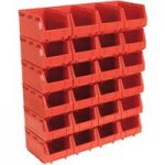 Sealey TPS324R Plastic Storage Bin 148 x 240 x 128mm – Red Pack of 24