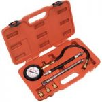 Sealey VSE300D Petrol Engine Compression Tester Deluxe Kit 6pc