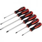 Sealey AK4932 Screwdriver Set 6pc Hammer-Thru