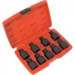 Sealey SX095 Impact Spline & Hex Socket Bit Set 9pc 3/4″Sq Drive