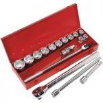 Sealey AK2597 Socket Set 17pc 3/4″Sq Drive WallDrive® Metric